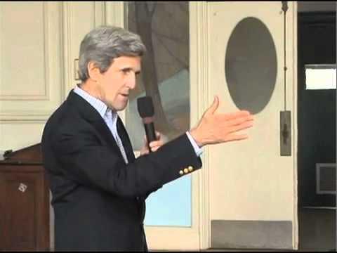 John Kerry at Waltham Town Hall