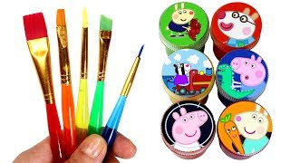 Learn Colors with Peppa Pig Drawing & Painting and Surprise Toys for Kids