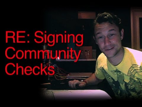 RE: Signing Community Checks