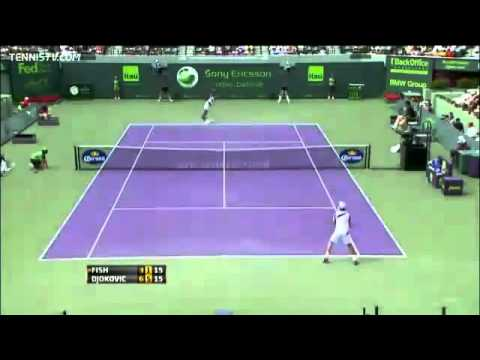 YouTube   Novak Djokovic vs Mardy Fish ATP Miami 2011 Semifinal 2