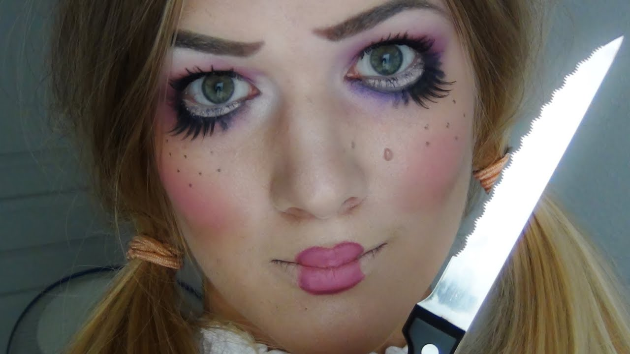 Halloween poup e mal fique youtube - Maquillage poupee halloween ...