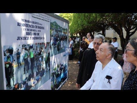 UCA inaugura exposición fotográfica sobre crisis en Nicaragua