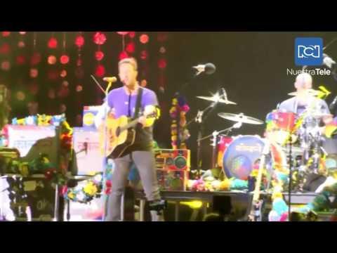 Coldplay cautivó a 40.000 personas en su concierto en Bogotá, Colombia