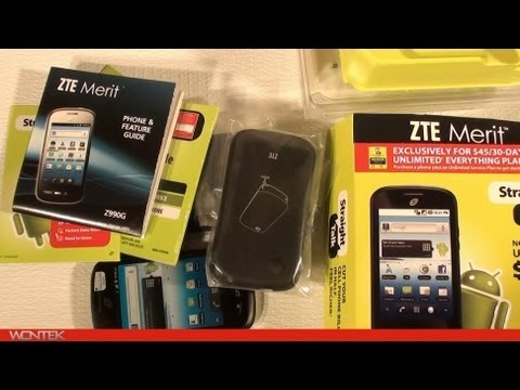 Straight Talk ZTE Merit Unboxing