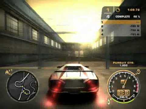 Need For Speed Most Wanted Race: Lamborghini vs 3 masini and police Video