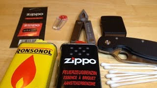 Maintenance of a Zippo lighter