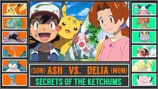 Ash vs. Delia Ketchum (Son vs. Mom) - Secrets of the Ketchums #1 - Pokémon Sun/Moon