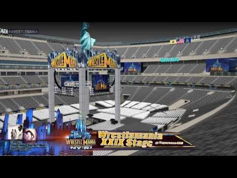 Wrestlemania Xxix Stage Metlife Stadium Youtube