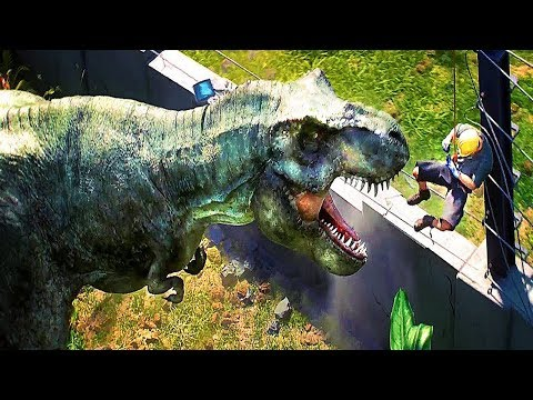 JURASSIC WORLD Evolution Game Trailer (Dino Theme Park Simulator - 2018)