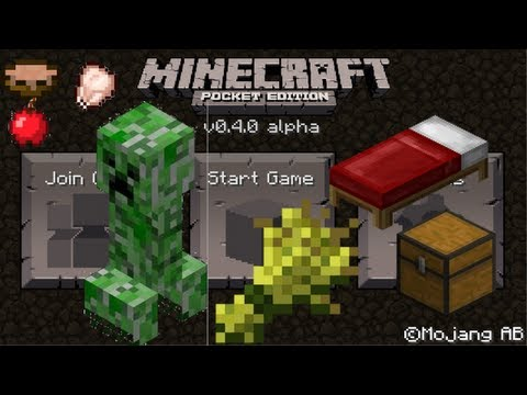 Minecraft Pocket Edition 0.4.0 Update Review iPhone/iPod/iPad/Android