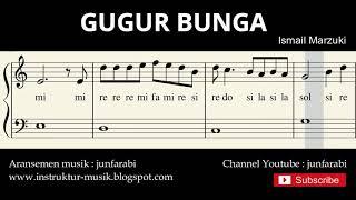 not balok gugur bunga - lagu wajib nasional - doremi / solmisasi