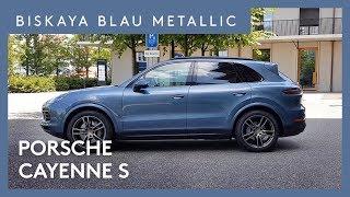 2018 Porsche Cayenne S Biskaya Blau Metallic CODE 4A