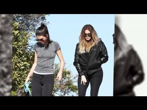 Khloe Kardashian Hits The Gym And The Trails With Kendall Jenner
