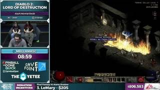 Diablo 2: Lord of Destruction by MrLlamaSC in 1:44:51 - SGDQ 2016 - Part 167