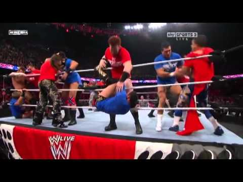 WWE Raw 10/18/10 Smackdown vs Raw Battle Royal