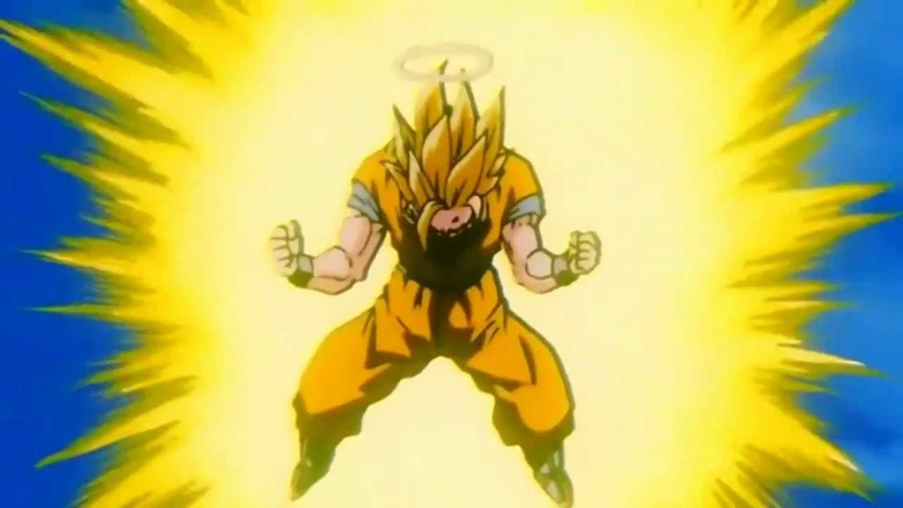 Goku goes super saiyan 3 for the first time hd 1080p - Sangoten super sayen 3 ...