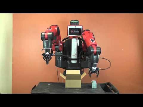 Packaging Demo of Baxter Robot using 2-Finger Adaptive Robot Grippers from Robotiq