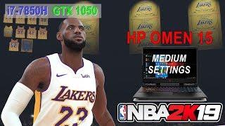 NBA 2K19 - Medium Settings (HP OMEN 15 dc0100tx) BENCHMARK