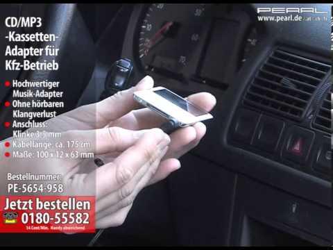 CD/MP3-Kassetten-Adapter für Kfz-Betrieb