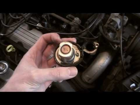 Engine Coolant Thermostat replacement 3800 V6 engine - Pontiac Bonneville P0128 OBD II Code repair