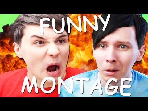 DAN AND PHIL FUNNY GAMING MONTAGE