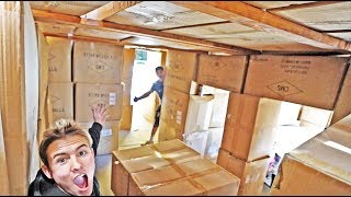 BIGGEST BOX FORT (MINECRAFT IN REAL LIFE)