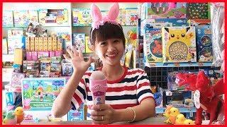 Đồ chơi trẻ em MICRO hát karaoke màu hồng, Chị Chim Xinh hát test thử micro đồ chơi