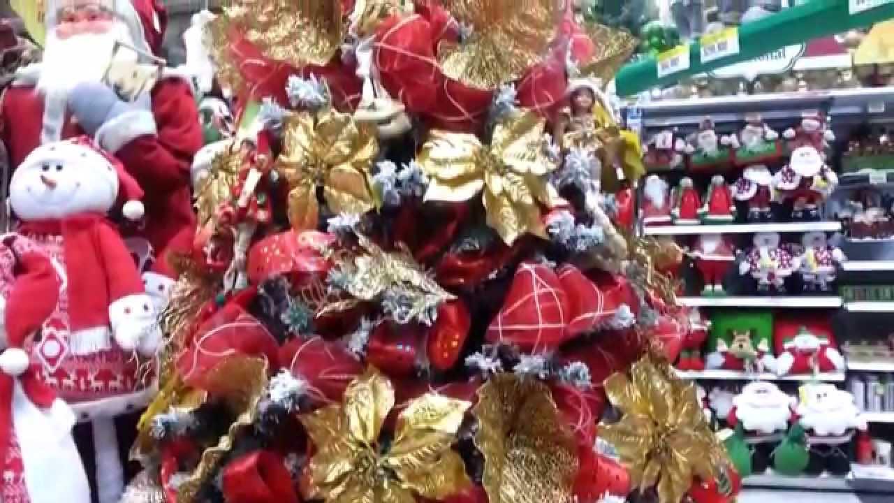 Decoracion arboles de navidad 2015 mallas y flores parte - Decoracion arbol navidad ...
