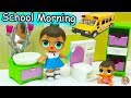 LOL Surprise Big Lil Sisters School Day Morning Time Routine Eat Breakfast Brush Teeth mp3