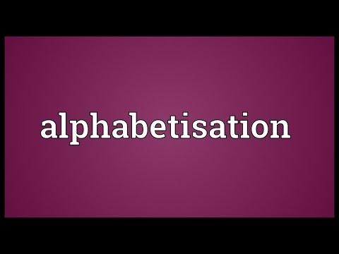Header of alphabetisation
