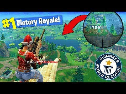 *NEW* Longest Snipe Record In Fortnite Battle Royale!