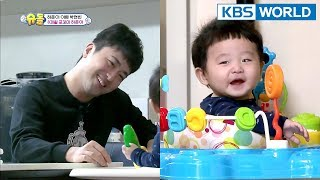 Daddy Hyunbin cares for 8-month-old Hajun for the first time [The Return of Superman/2018.03.04]  from KBS World TV