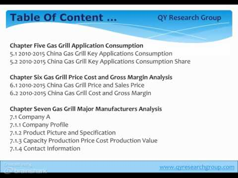 China Gas Grill Industry 2015 Market Research Report