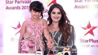 Anjali Anand And Myra Singh At Star Parivaar Award