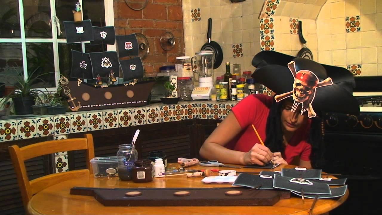 Barco pirata para fiesta infantil 3 de 5 - YouTube