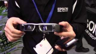 Hands on with the Epson Moverio BT-200 augmented reality smart glasses at CES 2014