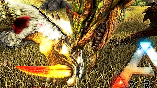 ARK Survival Evolved - DANGEROUS MONSTER HUNTER RATHIAN TAMING & WORST PURLOVIA FAIL Gameplay /S3E2/