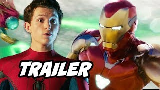 Spider-Man Far From Home Trailer - Hydro Man Scene and Avengers Endgame Ending Explained