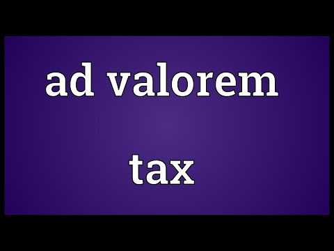 Header of ad valorem