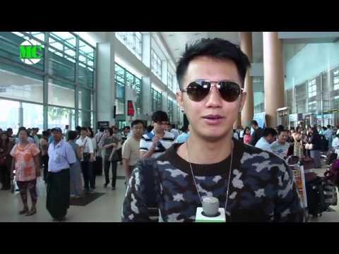 Sai Sai Depart Yangon for ASEAN-Japan Music Festival