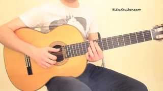 Killer Riff Malaguena Classical Guitar Lesson. One String Riff!