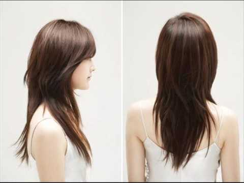 Medium length korean hairstyle for round face