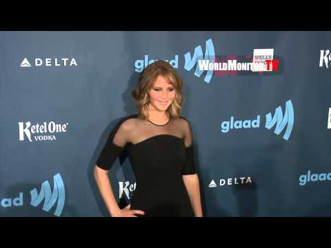 The Hunger Games 'Jennifer Lawrence' arrives at 24th Annual GLAAD Media Awards