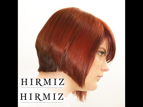 GRADUATED BOB WITH HIRMIZ