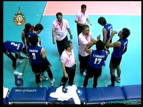 Thailand vs Indonesia - set 3 - Men Volleyball - 26th SEA GAMES