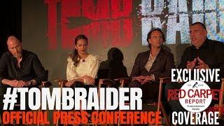 Download Alicia Vikander Walter Goggins Roar Uthaug Graham King talk about quotTomb Raiderquot PressConference