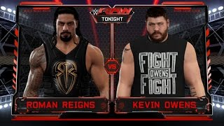 WWE 2K17-Roman Reigns vs Kevin Owens -Normal Match WWE 2K17- Gameplay At RAW (PS4)