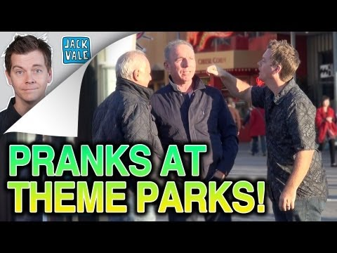 PRANKING PEOPLE at Theme Parks!