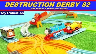 Thomas & Friends Destruction Derby #82 - Trackmaster toy trains competition with many accidents.