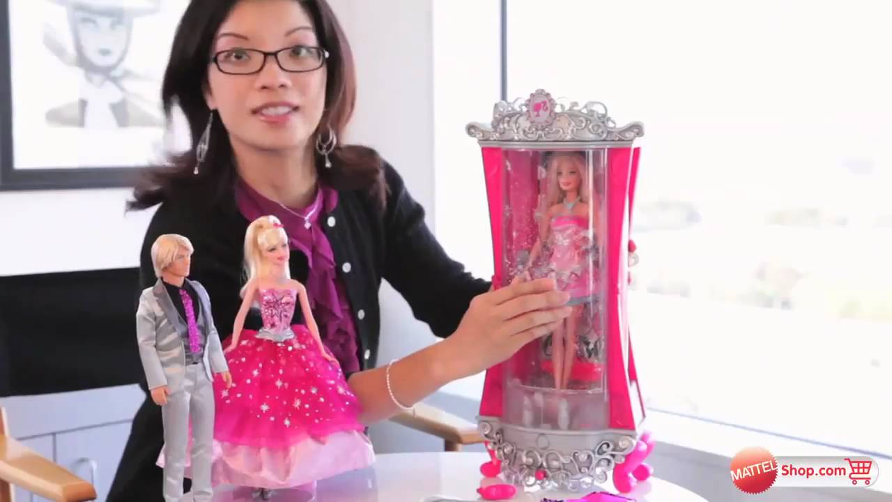 Behind The Design Of Barbie A Fashion Fairytale Glitterizer Wardrobe And Barbie Doll Playset